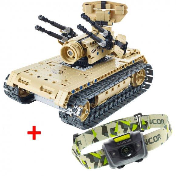 BCS 2002 RC Tank BUDDY TOYS + Čelovka SLL 55 Sencor